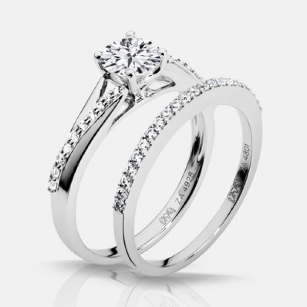 Diamond Engagement Rings - .60ct tw Engagement Ring - image #3