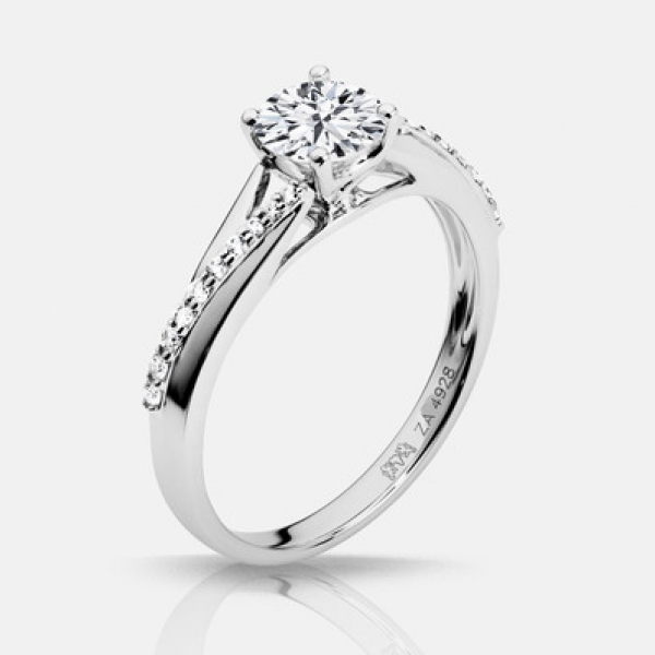 Diamond Engagement Rings - .60ct tw Engagement Ring - image #2