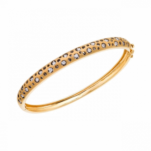 Diamond Bangle - 18kt .25ct tw Diamond Bangle Bracelet.  This bracelet is also available  in .50ct tw and .65ct tw